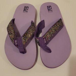 TEVA Mush Sparkle Flip Flops size 6